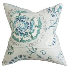 A stylish finishing touch for your favorite arm chair or living room sofa, this lovely cotton pillow showcases a medallion motif and feather-down fill. Product: PillowConstruction Material: Cotton cover and feather-down fillColor: Peacock