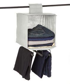 Look at this #zulilyfind! Beige Hanging Closet Organizer #zulilyfinds  Sale:  $9.99 Reg:  $15.00  Zulily.com