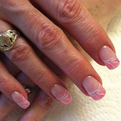 Another version of light pink French manicure