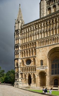 An interesting angle of Lincoln Cathedral with some ominous clouds in the background. Lincoln Cathedral, Cathedral Church, Church Architecture, Ancient Architecture, Lincoln England, Lincoln Uk, Lincolnshire England, Gothic Buildings, Minimalist Apartment