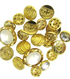 The Button Artist Embellishment Accents Shiny Gold