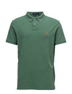 polo ralph lauren custom slim fit weathered mesh polo antique green men  tops shirts short- d5531126c9