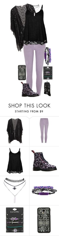 """""""Draft #11"""" by weird-witch ❤ liked on Polyvore featuring River Island, WearAll, Dr. Martens, Wet Seal, Hot Topic and Samsung"""
