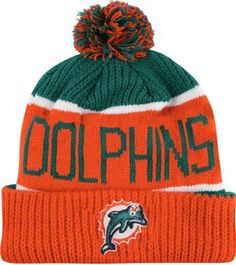 NFL Miami Dolphins Men's Calgary Knit Cap, One Size, Tailgate Teal by '47 Brand. $19.99. Cuff knit cap. Raised embroidered logo. Contrast cuff and two-color pom pom. 100% acrylic yarn. Features a jacquard pattern with script. Made from 100% acrylic yarn. 47 Brand provides the quality all true fans desire in their gear. Known for their vintage look and feel, '47 has managed to also provide a new school spin to this old school craze. Featuring tight, crisp stitching, rel...