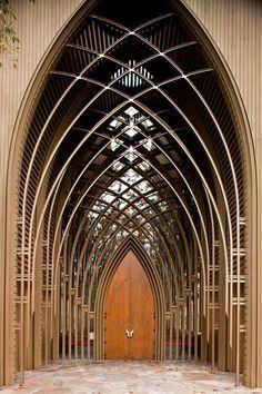 Mildred B Cooper Memorial Chapel. Entrance