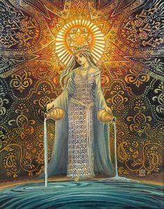 Déesse étoile d'espoir Tarot mythologique Art 11 x par EmilyBalivet