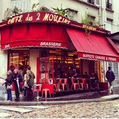 Cafe des Deux Moulins en Montmartre de la película Ameliè