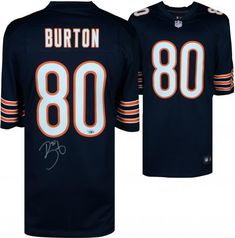ca937fd0a52 Trey Burton Chicago Bears Autographed Nike Blue Game Jersey