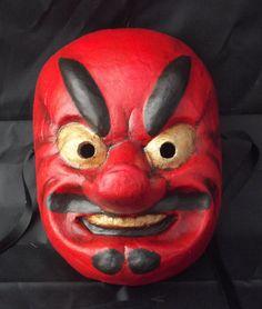 tengu mask japanese tradicional by tragicomic on Etsy