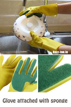 Glove attached with sponge Available here: http://amzn.to/2lTDgoz