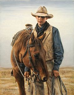 Wyoming Print Gallery, formerly Big Horn Print Gallery - Jackson Wald - Cowboy 2008 $250.00