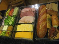 Everyone in the family will gladly pack their own lunch...it's like having Subway and Quiznos right in your fridge!