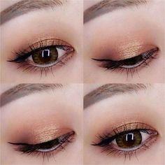 61 Trendy Eye Makeup Looks Wedding Makeup Goals, Beauty Makeup, Hair Makeup, Glow Makeup, Pony Makeup, Korean Makeup Tips, Asian Eye Makeup, Eyeshadow Looks, Makeup Eyeshadow