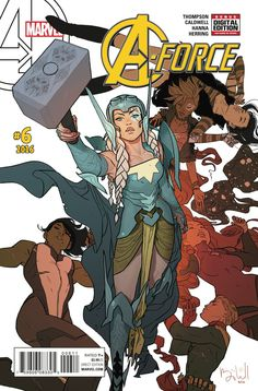 Marvel exclusive: A-Force puts the team behind bars with Dazzler Thor Marvel Dc Comics, Marvel Girls, Comics Girls, Marvel Avengers, Cosmic Comics, Marvel Heroes, Captain Marvel, Comic Book Covers, Comic Books Art
