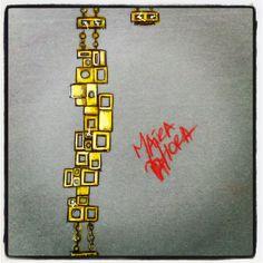 Pulseira de ouro e diamantes.