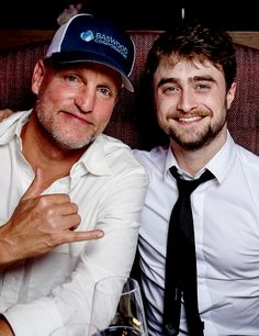 Woody Harrelson and Daniel Radcliffe at the Tommy Hilfiger Dinner in celebration of the 12th Zurich Film Festival on September 30, 2016 in Zurich, Switzerland.