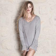 T Shirt en maille de Jersey Noir, Ecru ou Gris ADRIAN ShopMeTender Chic, Une Boutique Solidaire !