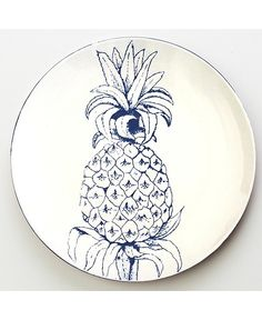 Pineapple Dinner Plate - mozi.com.au