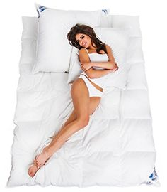 Woman   Warme angenehme kuschlige #Bettdecke #Daundecke