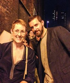 RA with a fan after The Crucible.
