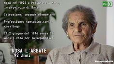 """""""Volevo studiare ma i fratelli erano troppi, la madre era sola ed io dovevo aiutarla"""". Rosa è una de #LeRagazzedel46 #Rai3"""