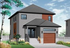 Contemporary Modern Elevation of Plan 76327