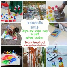 Paintbrushes not required by Teach Preschool