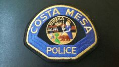 Costa Mesa Police Patch, Orange County, California (Vintage 1983 Issue)