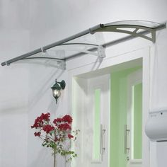 Palram Aquila 0.54ft. H x 6.73ft. W x 3.02ft. D 2050 Awning Color: Clear