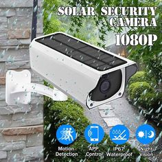Outdoor Waterproof HD Solar Security Camera Wireless Wifi IP Camera Night Vision PIR Detection for Android/IOS Phone Porch Garden Patio Wireless Home Security Systems, Security Alarm, Security Surveillance, Surveillance System, Security Products, Ip Security Camera, Video Security, Security Tips, New Energy