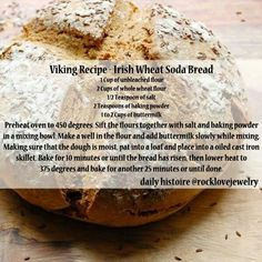 Viking Recipe - Irish Wheat Soda Bread
