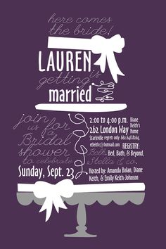 Cute bridal shower invitation