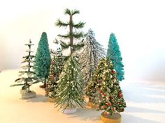 #Vintage Bottle Brush #Christmas #Tree Collection by ElmPlace on Etsy, $32.00