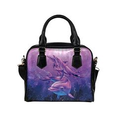 Angelinana Custom Womens Handbag Animals christian riese lassen Dolphins bosom of the sea Fashion Shoulder Bag >>> Be sure to check out this awesome product.Note:It is affiliate link to Amazon.