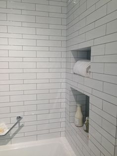 White Tile Bathroom Gray Grout materials: the smallest room in the house | grey grout, grout and