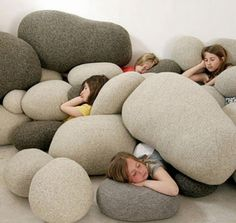 stone pillows :)