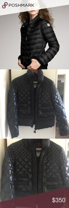 Moncler Water Resistant Short Down Jacket Moncler Water Resistant Short Down Jacket in great condition. Barely worn. Moncler Jackets & Coats Puffers