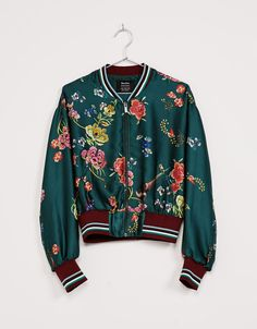 Oriental floral print bomber jacket. Discover this and many more items in Bershka with new products every week