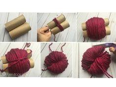 Crafts bunny tail diy, pom pom diy, pom poms, p Diy Crafts For Kids, Crafts To Sell, Arts And Crafts, Sell Diy, Kids Diy, Preschool Crafts, Pom Pom Crafts, Yarn Crafts, Decor Crafts