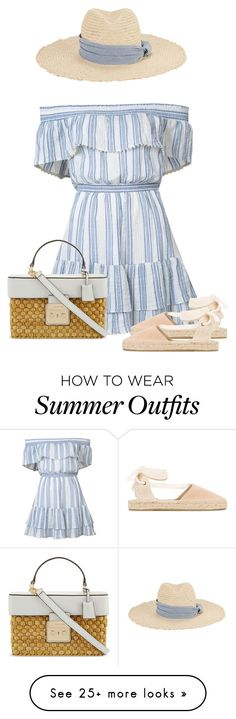 """""""Untitled #767"""" by dida-zalesakova on Polyvore featuring LoveShackFancy, Hat Attack and Soludos"""