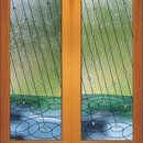 Rainfall Doors by Relkie Art Glass
