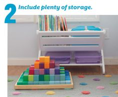 Looking to create a study area at home? Here are a few helpful tips that make it easy.  Make sure to include enough space to store supplies. Each zone needs to include easy access storage for the materials you'll need on any given day. Also, plan a general storage area for supplies you want to keep out of reach (at least until school is done for the day).