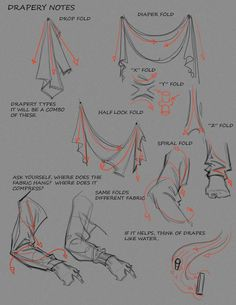 Some Notes on Drapery by ~FUNKYMONKEY1945 on deviantART ✤ || CHARACTER DESIGN REFERENCES......