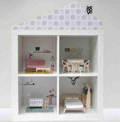 Modern Ikea Flisat Kids Furniture Ideas With Scandinavian Vibes Expedit Bookcase, Ikea Expedit, Modern Dollhouse, Diy Dollhouse, Dollhouse Tutorials, Dollhouse Furniture, Ideas Habitaciones, Kid Spaces, Kids Furniture