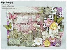 Marta Lapkowska: Colour challenge at Lindy's Stamp Gang - altered frame