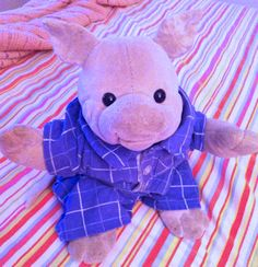 Searching – Oinking pink velour stuffed pig