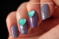 diamante heart nails THE MOST POPULAR NAILS AND POLISH #nails #polish #Manicure #stylish