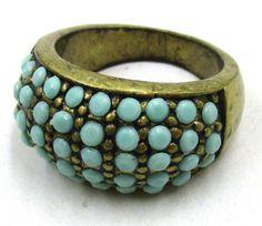 Free-Shipping-Fashion-Jewelry-Retro-Green-Gemstone-Size-10-Ring-JD8589