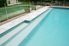 A great benefit of inground concrete swimming pools is flexibility. Swimming pool steps and ledges can be customized to suit your individual needs. Pool Steps Inground, Swimming Pool Steps, Swimming Pool Designs, Swimming Benefits, Concrete Pool, Pool Water, Cool Pools, Landscape, Pool Fun