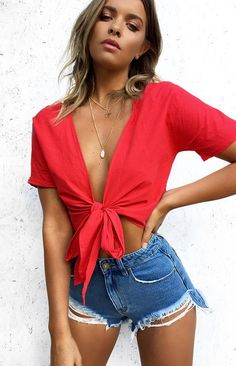 Vanek Crop Red